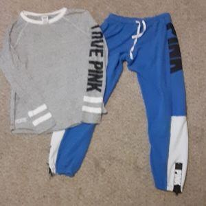 VS PINK sweats and t-shirt